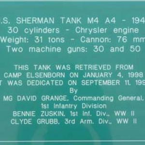 Panneau du Sherman