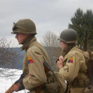 Deux marcheurs (division blindee)