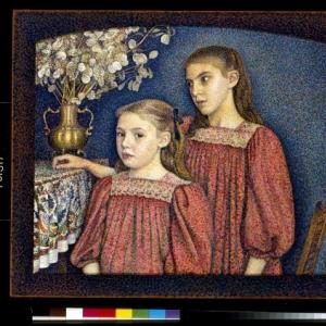 Georges Lemmen, De twee zusters of De zusters Serruys, 1894.