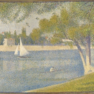 Georges SEURAT (1859-1891), The Seine river at Grande-Jatte, Oil on canvas, 65 x 82, (1888) ©Brussels, MRBAB/KMSKB
