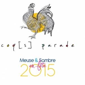 Cocoricoo…les 14 coqs de la première Coqs parade sont arrivés à Dinant !