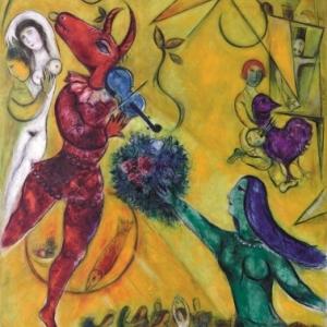 la danse, 1950 1952, huile sur toile, copyright ADAGP, Paris 2013 / CHAGALL
