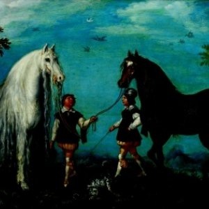 Deux chevaux et des palefreniers, Roelandt Savery (1576-1639), © Stedelijke Musea Kortrijk