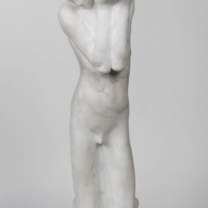 Georges MINNE (1866-1941), The little relic carrier, 1897, Marble, 67 x 18,5 x 38 © Brussels, MRBAB/KMSKB