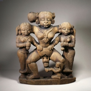 Carving-of-a-squatting-woman-giving-birth-Ajit-Mookerjee-Collection-National-Museum,-Delhi-Hock-Khoe