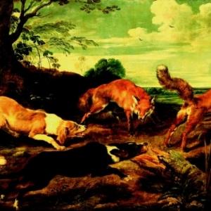 La Chasse aux renards, Paul de Vos, (1591/1592 – 1678),Bruxelles, collection Belfius © Collection Belfius Banque / photo Hugo Maertens