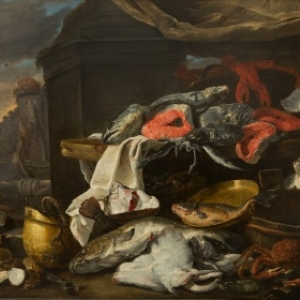 Jan Fyt (1611 -1661) Le marché aux poissons, Anvers, museum Rockoxhuis, inv. 223.II © KBC Group