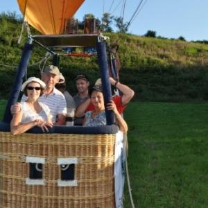 avant le depart en montgolfiere