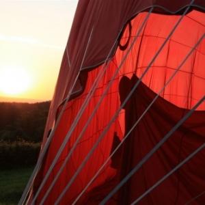 coucher du soleil apres l'atterrissage