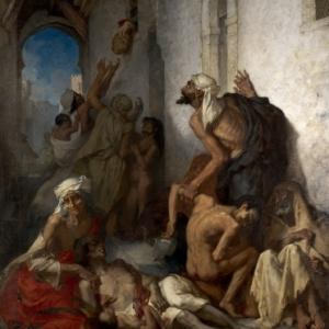 """La Famine en Algerie"" (1868/309 x 234 cm/""Musee Public National Circa"", a Contantine)"