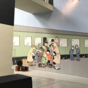 """Tintin au Congo"", une recente fresque murale (c) ""Herge-Moulinsart 2019"""