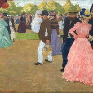"""""""La Pomenade du Dimanche"""" (1898/Henri Evenepoel) (c) Ville de Liege"""