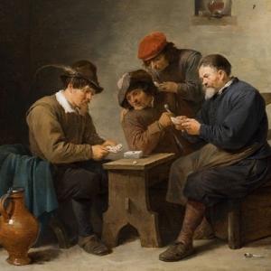 """""""Joueurs de Cartes dans une Taverne"""" /David Teniers le Jeune"""