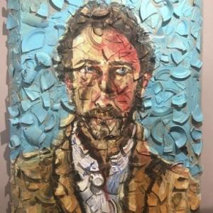 """L un des """"Portraits"""" realise par (c) Julian Schnabel/""""Guy Pieters Gallery"""""""