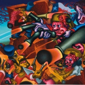 """The Alamo"" (1990) (c) Peter Saul/""Artist s Rights Society"", New York"