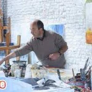 Pierre Debatty dans son atelier (c) Patricia Mathieu