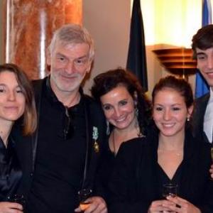 En famille, à l'Ambassade de France