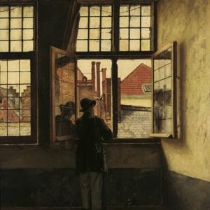 """L Homme a la Fenetre"" (1873) (c) Henri De Braekeleer"