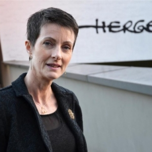 "Anne Eyberge, directrice du ""Musee Herge"" depuis 2015 (c) ""L Avenir"""