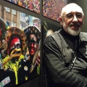 """Yves Glotz et les harengs du Carnaval, l'une de ses photos photochrome (c) """"La Nouvelle Gazette"""""""