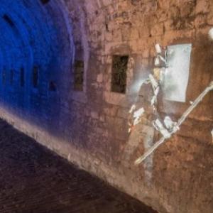 """Animation historique au sein d une petite section des Souterrains de la Citadelle (c) """"Le Soir"""""""