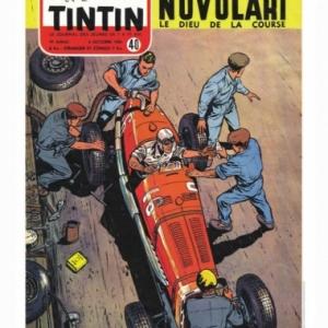Couverture Journal Tintin 1954-Numero 40, alors que Michel Vaillant n existait pas encore (c) Jean Graton/Graton Editeur 2018