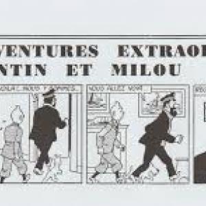"""Strip prepublie par """"Le Soir"""" (c) """"Herge-Moulinsart"""""""