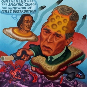 """Bush over Baghdad"" (2003) (c) Peter Saul/""Artist s Rights Society"", New York"