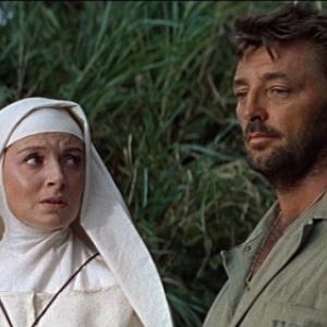 "Deborah Kerr et Robert Mitchum, dans ""Dieu seul le sait"" (John Huston)"