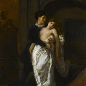 """""""Roméo et Juliette au Tombeau des Capulet"""", Eugene de Delacroix, 1850"""