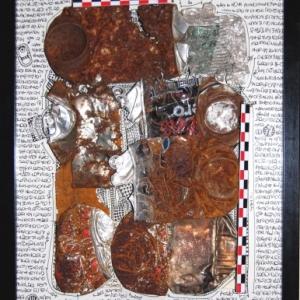"""Un cadre """"a la Cesar"""" (c) Catherine Delbruyere et Vincent Kempenaers (oeuvre et photo)"""