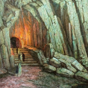 """""""Dante et Virgile aux Enfers"""" (avec Armand Seguin/s.d./huile sur toile/50 x 60 cm/collection Bodaert-Gent)"""