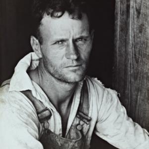 """Floyd Burroughs, Shacropper""/Walker Evans (c) ""Library of Congress, Prints & Photographs Division, Washington DC"""
