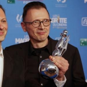 """Laureats, en 2014, et Presidents des """"Magritte du Cinema, en 2019, Stephane Aubier et Vincent Patar"""