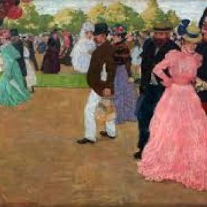 """""""La Promenade du Dimanche au Bois de Boulogne"""" (1899) (c) Henri Evenepoel (c) Ville de Liege"""
