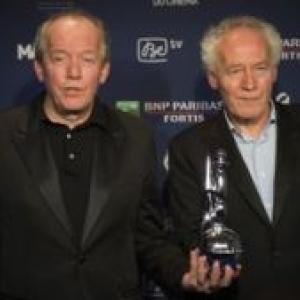 """Jean-Pierre et Luc Dardenne, en 2015, 3 """"Magritte"""" pour """"Deux Jours, une Nuit"""" (c) Laurie Dieffembacq/""""Belga"""""""