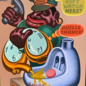 """Hang Soft Watch Here ?"" (1997) (c) Peter Saul/""Artist s Rights Society"", New York"