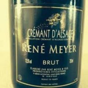 Un Cremant d'Alsace Rene Meyer