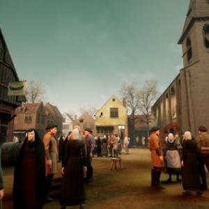 """Une kermesse au village, un extrait d une sequence en """"Realite Virtuelle 3D"""""""