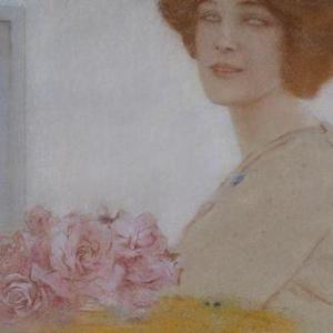 """""""Des Roses""""/Fernand Khnoff (c) """"Akg-Images"""""""