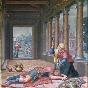 """Jael et Sisara, Cycle des Femmes vertueuses"" (vers 1530-1535) (c) Lambert Lombard (c) Ville de Liege"