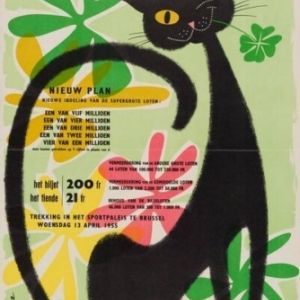 Chat Noir et Trefle a 4 Feuilles