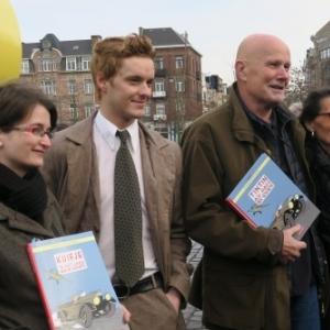 Tintin entre ses Coloristes, Michel Barreau et Nadege