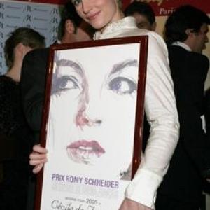 """Cecile de France, """"Prix Romy Schneider"""" 2005"""