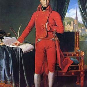 """""""Bonaparte, premier Consul"""" (1804) (c) Jean Dominique Ingres (c) Ville de Liege"""