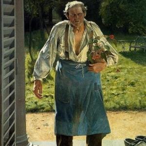 """""""Le vieux Jardinier"""" (vers 1886) (c) Emile Claus (c) Ville de Liege"""