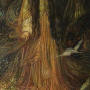 """""""Senta le Vaisseau Fantome"""" (1890/pastel sur papier/282 x 141 cm/collection Bernard de Leye"""