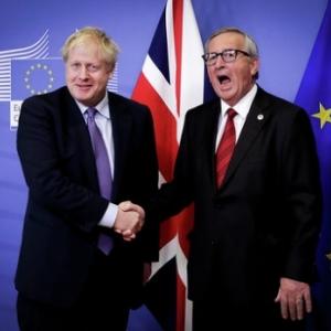 """Visite officielle de Boris Johnson a la Commission europeenne (c) Olivier Hoslet/""""EPA"""""""