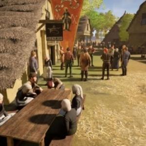 """A la taverne du village, un extrait d une sequence en """"Realite Virtuelle 3 D"""""""