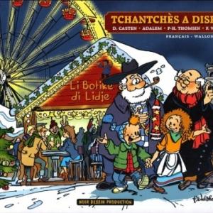 "Au ""Village de Noel"", a Liege (c) Walthery/Ed. ""Noir Dessin"""